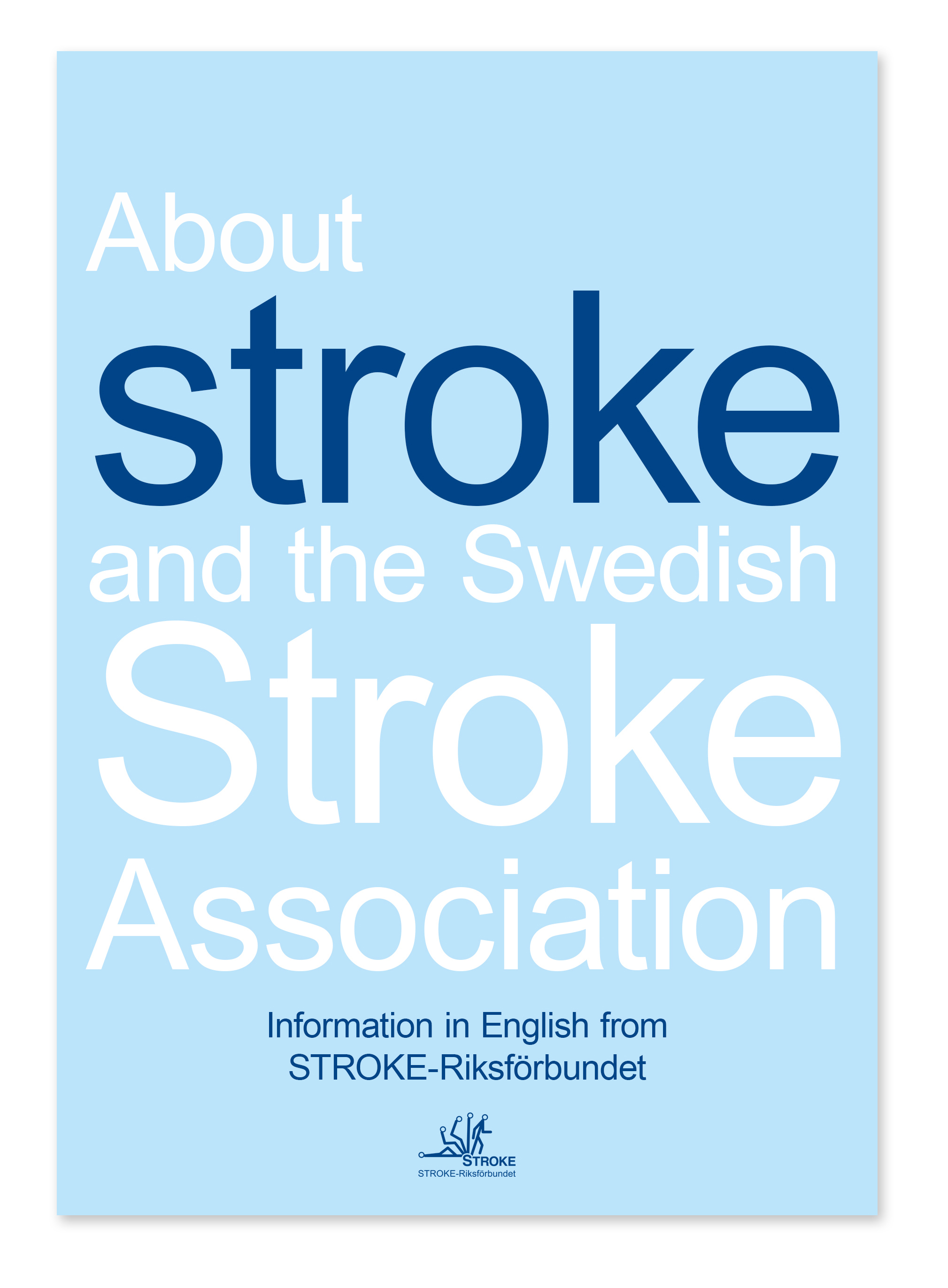 Framsida från informationsfoldern About stroke and the swedish stroke association